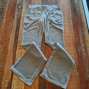 Juicy Couture Velour Light Gray Lounge Pants Small
